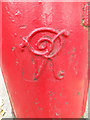 TM0024 : Royal Cypher on the Wimpole Road Victorian Postbox by Adrian Cable