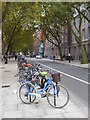TQ2982 : Cycle rack in Malet Street Bloomsbury by Rod Allday
