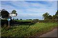 NY6133 : Road sign near Skirwith by Ian S