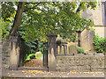 SE2432 : St Makarios church, Farnley - gateway by Stephen Craven