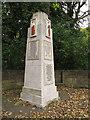 SE2431 : Farnley war memorial - detail (2) by Stephen Craven