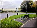 SD4908 : Seat Outside the Church at Dalton by David Dixon
