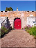 NO3848 : North wall gate, Glamis walled garden by Stanley Howe