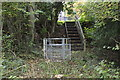 ST2098 : Steps on path to lane at the end of Ty-Brachty Terrace, Kendon by M J Roscoe