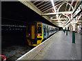 SN5881 : A train from Pwllheli at Aberystwyth by John Lucas