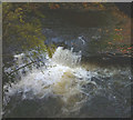 SD5086 : Waterfall below Force Bridge, River Kent by Karl and Ali