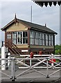 TL0997 : Wansford Signal Box and Crossing by John Sutton