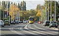 SJ8288 : Tram on Hollyhedge Road by Alan Murray-Rust