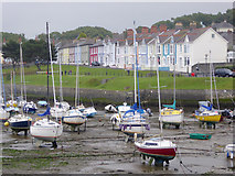 SN4562 : Harbour and Housing at Aberaeron, Ceredigion by Roger  Kidd