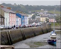 SN4562 : Harbour wall at Aberaeron, Ceredigion by Roger  Kidd