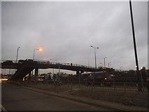 TQ2387 : Tilling Road crossing the North Circular Road by David Howard