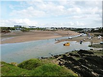 SS2006 : View from Chapel Rock over Summerleaze Beach and Bude Haven, by Derek Voller