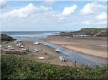 SS2006 : Summerleaze Beach and Bude Haven at low tide by Derek Voller