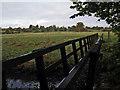 SJ8979 : Footbridge over the River Bollin by Stephen Burton