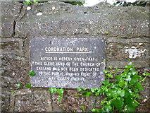 SX9265 : Coronation Park, Babbacombe, Glebe Land Notice by John C