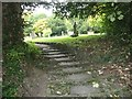 ST9151 : The top of Church Steps, St James the Great, Bratton by Penny Mayes
