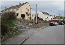 SW7834 : Corner of Slades Lane and Saracen Crescent, Penryn by Jaggery