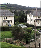 SW7834 : Viaduct arches behind houses, Penryn by Jaggery