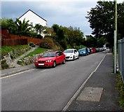 SW7834 : On-street parking in Saracen Way, Penryn by Jaggery
