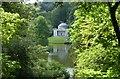 ST7733 : Long lens shot through the trees of The Pantheon, Stourhead by Derek Voller