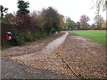 SK3516 : The new path in the Bath Grounds, Ashby de la Zouch by Oliver Mills