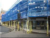 SO8554 : Scaffolding on the TSB building by Philip Halling