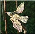 ST5775 : Ceramic bird, Durdham Down by Derek Harper