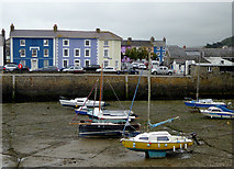 SN4562 : Across the harbour at Aberaeron, Ceredigion by Roger  Kidd