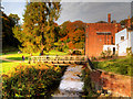 SJ8382 : River Bollin at Quarry Bank Mill by David Dixon