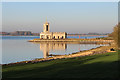 SK9306 : Normanton Church, Rutland Water by Kate Jewell