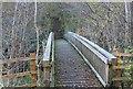 ST1899 : Footbridge over River Sirhowy, near Oakdale by M J Roscoe