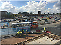 SP3880 : Bus bay under construction, University Hospital, Walsgrave, Coventry by Robin Stott