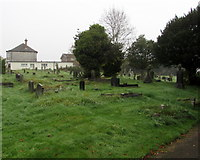 ST3090 : North side of St Mary's churchyard, Malpas, Newport by Jaggery