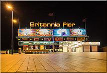 TG5307 : Britannia Pier at night by David P Howard