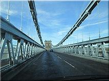 SH5571 : A5  over  the  Menai  Suspension  Bridge by Martin Dawes