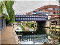 TG2308 : River Wensum, Foundry Bridge by David Dixon