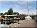 TG2307 : River Wensum, The Novi Sad Friendship Bridge by David Dixon