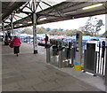 SW8144 : Platform 3 side of  the ticket barrier at Truro railway station by Jaggery