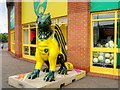 TG2307 : Dragon Outside the Canaries Shop by David Dixon