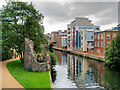 TG2307 : River Wensum and Remains of Boom Tower by David Dixon