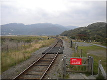 SH6214 : Railway north from Morfa Mawddach by Richard Vince