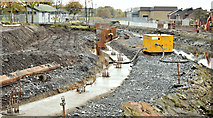 J3674 : Connswater path works, Belfast - November 2015(1) by Albert Bridge