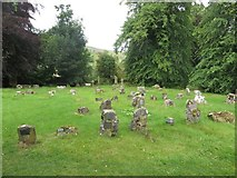 SD9772 : Graves at Kettlewell Church by Graham Robson