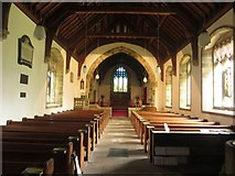 SD9772 : Looking along the nave, St Mary's Parish Church, Kettlewell by Graham Robson