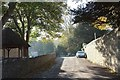 SY4493 : Lane past the church, Symondsbury by Derek Harper