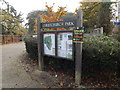 TM1645 : Christchurch Park sign by Geographer