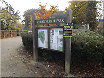 TM1645 : Christchurch Park sign by Adrian Cable