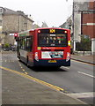 SO2800 : X24 bus in Pontypool town centre by Jaggery