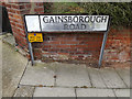 TM1645 : Gainsborough Road sign by Adrian Cable