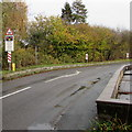 SO0291 : Western approach to Caersws level crossing by Jaggery